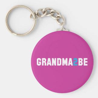 Grandma2Be - Abuela a ser Llavero Redondo Tipo Pin