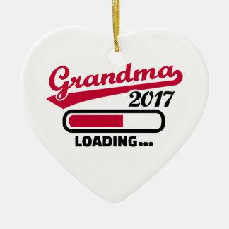 Grandma 2017 ceramic ornament