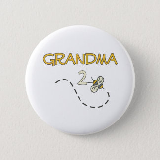 Grandma 2 Bee Pinback Button