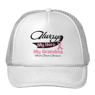 Grandma - Always My Hero - Breast Cancer Trucker Hat