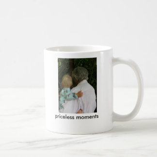 Grandma and baby, priceless moments coffee mugs