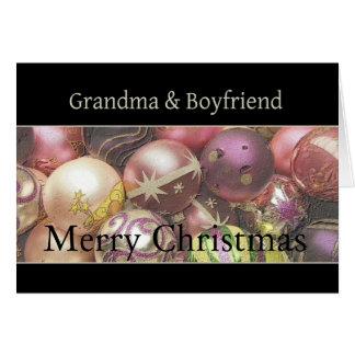 grandma and boyfriend  Merry Christmas card