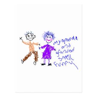 Grandma and Grandad Smell Funny Postcards