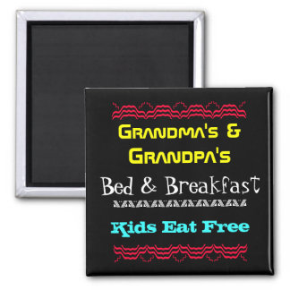 grandma and grandpa 2 inch square magnet