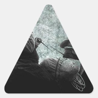 GRANDMA AND GRANDPA ALBEE GO HUNTING.jpg Triangle Sticker