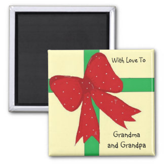 Grandma and Grandpa Bow Magnet