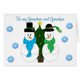 Grandma and Grandpa - Christmas card