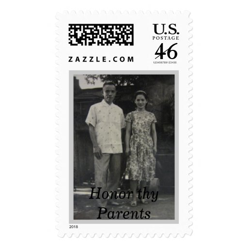 Grandma and Grandpa, Honor thy Parents Postage Stamps