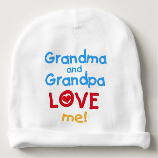 Grandma and Grandpa Love Me Baby Beanie