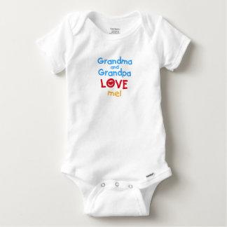 Grandma and Grandpa Love Me Baby Onesie