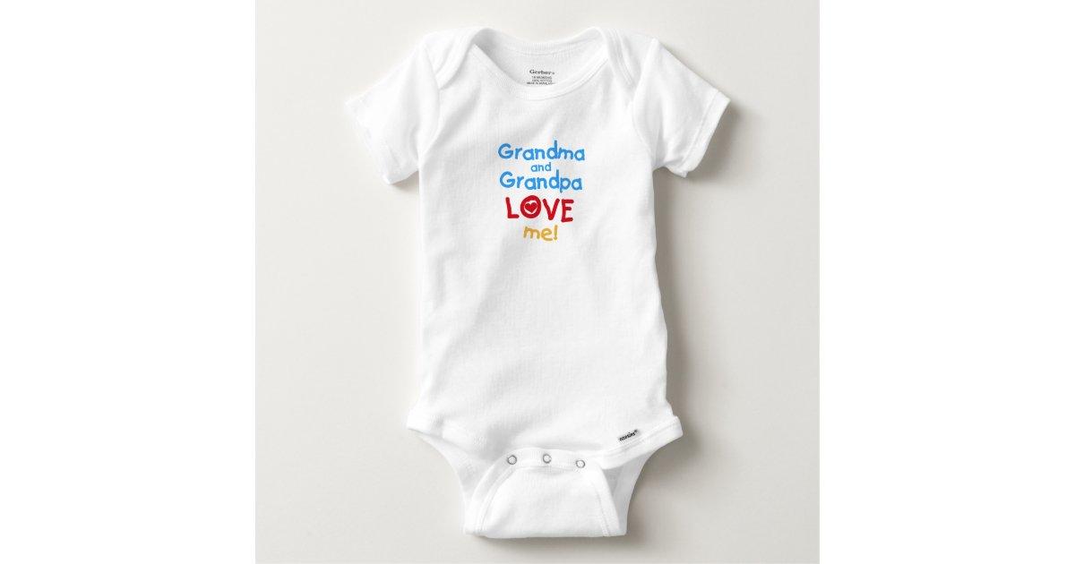 Grandpa Baby Outfit Grandpa Baby Bodysuit Grandpa Baby: Grandma And Grandpa Love Me Baby Onesie