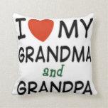 Grandma and Grandpa Pillow