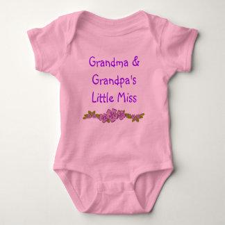 Grandma and Granpa's Liittle Miss Baby Creeper. Baby Bodysuit