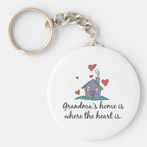 Grandma' el hogar de s es donde está el coraz llaveros personalizados
