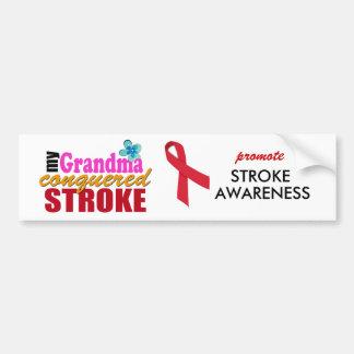 Grandma Beat Stroke Bumper Sticker