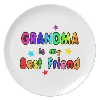 Grandma Best Friend Dinner Plate