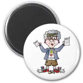Grandma Bingo 2 Inch Round Magnet
