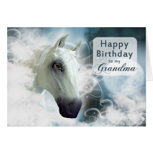 Grandma birthday, Arabian Horse Card