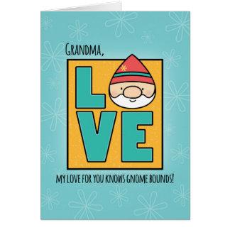 Grandma Birthday, Love Gnomes No Bounds Card
