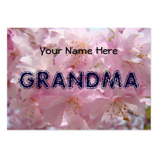 Grandma Business Cards Personal Pink Blossoms