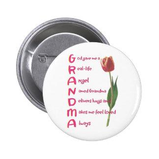 grandma pinback button