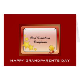 Grandma Certificate(Personalize) Card