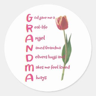 grandma classic round sticker