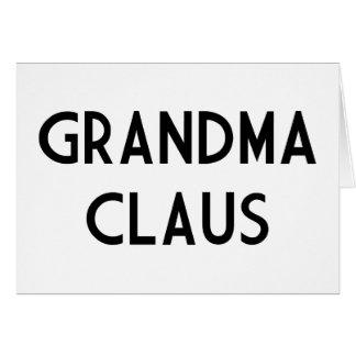 Grandma Claus Cards