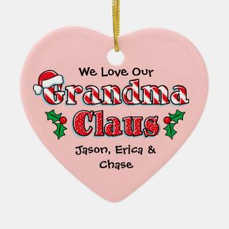 Grandma Claus Personalized Ornament