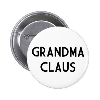 Grandma Claus Pinback Button