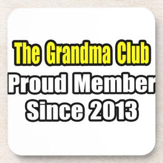 Grandma Club .. Proud Member Since 2013 Beverage Coasters
