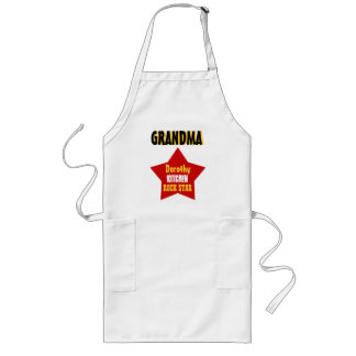 GRANDMA Custom Name Kitchen Rock Star V02D Long Apron