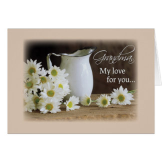 Grandma Daisies Pitcher, Grandparent's Day Card