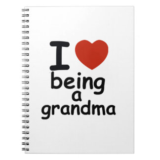 grandma design spiral notebook