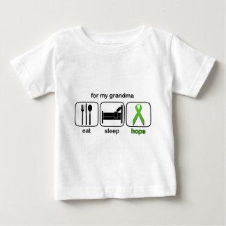 Grandma Eat Sleep Hope - Lymphoma Baby T-Shirt