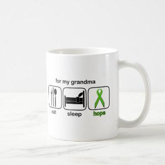 Grandma Eat Sleep Hope - Lymphoma Coffee Mug