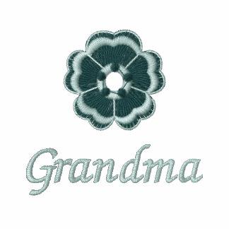 Grandma embroidered ladies zip up hooded jacket