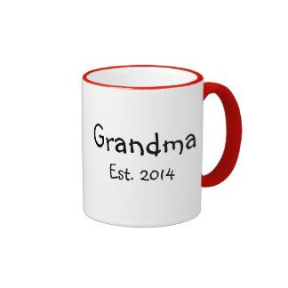 Grandma est. 2014 ringer coffee mug