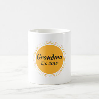 Grandma Est. 2018 Message, Sun Graphic Coffee Mug