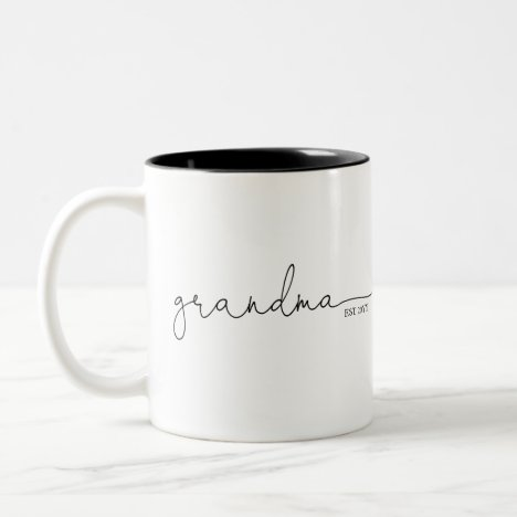 Grandma Established | Grandma Gift Two-Tone Coffee Mug