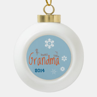 Grandma Evening Snow Template Ornament