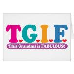 Grandma Fabulous Greeting Card
