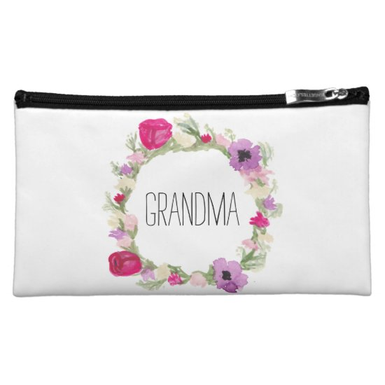 Grandma Floral Wreath Wristlet Mother's Day Gift