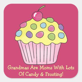 Grandma Frosting (customizable) Square Sticker