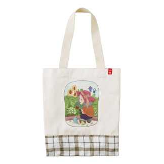 Grandma Gardening Zazzle HEART Tote Bag