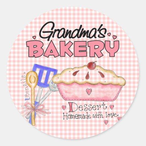 Grandma Gift Classic Round Sticker