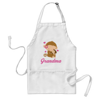 Grandma Gift Mother's Day Monkeys Adult Apron