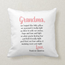 Grandma Gift Pillow Hugs & Kisses Special Pillow