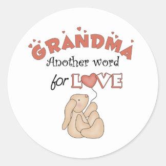 Grandma Gifts Classic Round Sticker