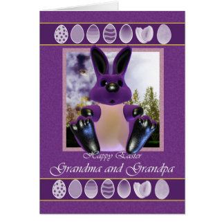 Grandma & Grandpa Easter Card, with Easter Bunny Card